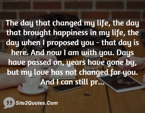 the day that changes my life