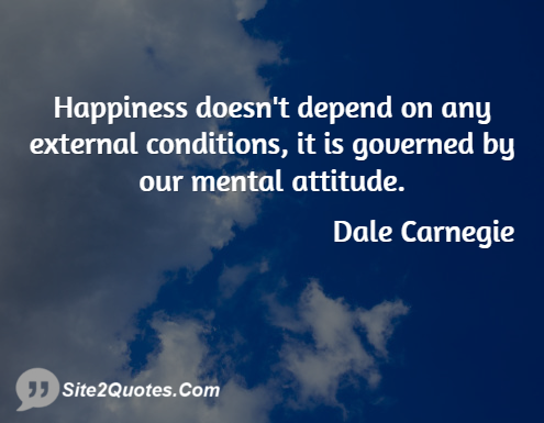 Happiness Quotes - Dale Carnegie