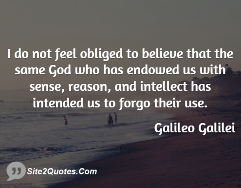 Famous Quotes - Galileo Galilei