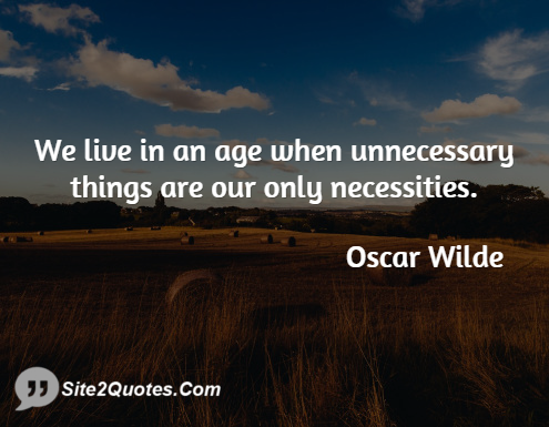 Famous Quotes - Oscar Wilde