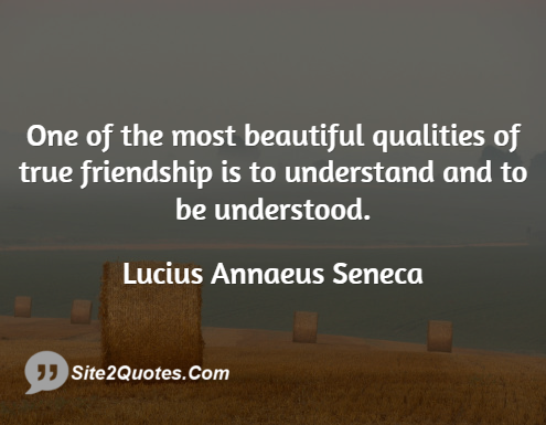 Friendship Quotes - Lucius Annaeus Seneca