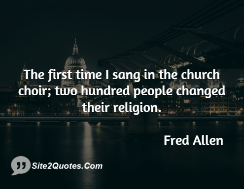 Funny Quotes - Fred Allen