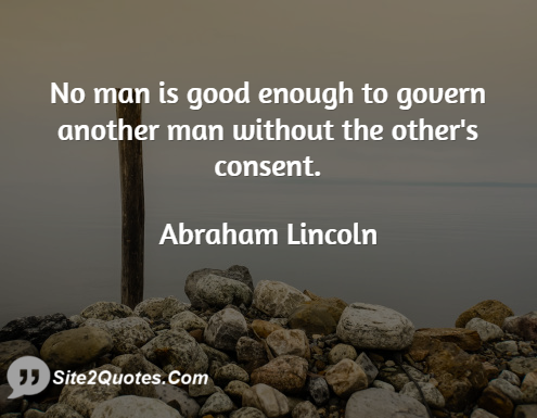 Abraham Lincoln Quote Good