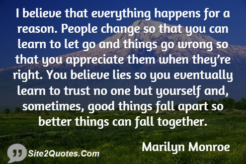 Good Quotes - Marilyn Monroe