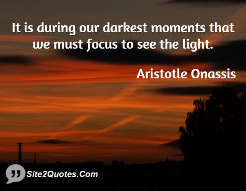 Inspirational Quotes - Aristotle Socrates Onassis