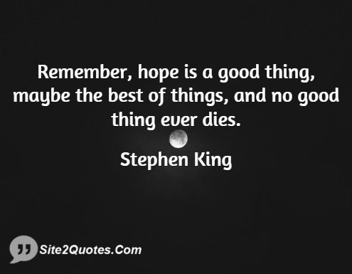 Inspirational Quotes - Stephen King