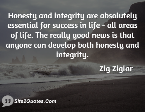 Zig Ziglar Quotes On Integrity
