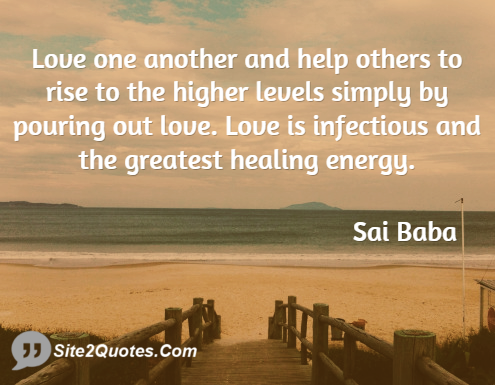 Sai Baba Love One Another Quotes