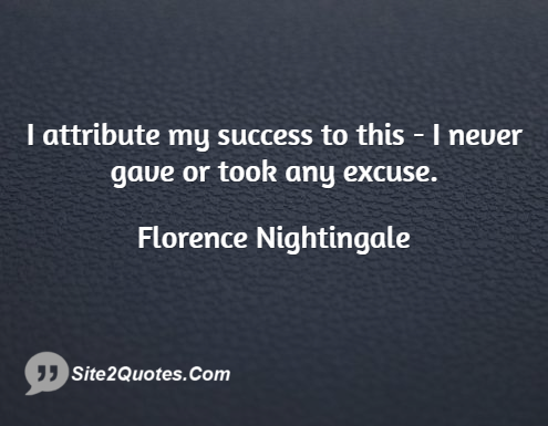 Motivational Quotes - Florence Nightingale