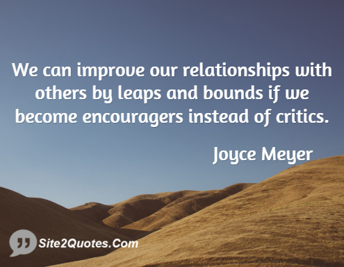 Relationship Quotes - Joyce Meyer
