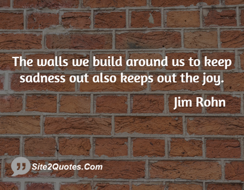 Sad Quotes - Jim Rohn