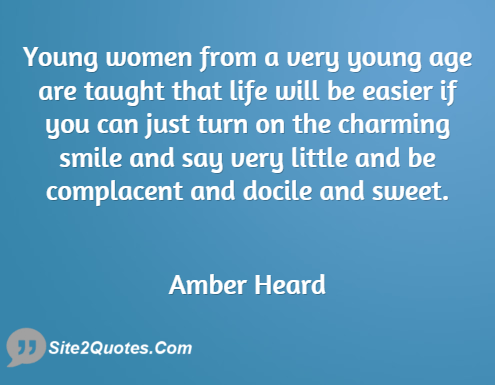 Smile Quotes - Amber Heard