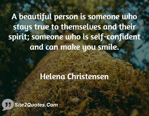 Smile Quotes - Helena Christensen