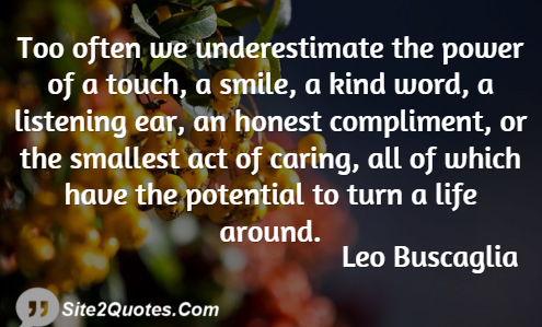 Smile Quotes - Leo Buscaglia