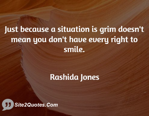 Smile Quotes - Rashida Jones
