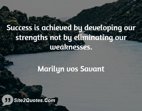 Success Quotes - Marilyn vos Savant