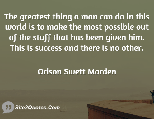 Success Quotes - Orison Swett Marden