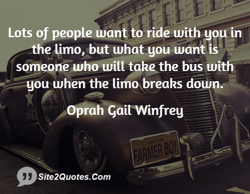 Friendship Quotes - Oprah Gail Winfrey