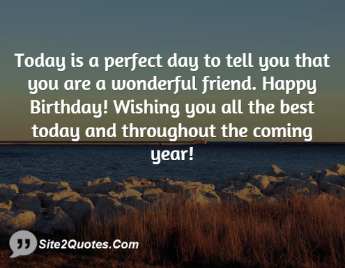 Today is a Perfect Day to Tell You - Birthday Wishes - Site2Quote