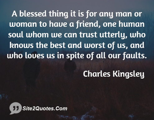Trust Quotes - Charles Kingsley