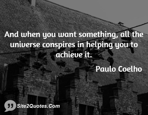 Inspirational Quotes - Paulo Coelho