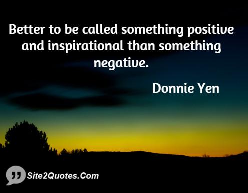 Inspirational Quotes - Donnie Yen