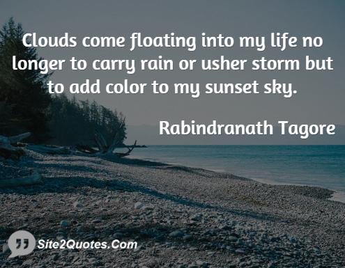 Inspirational Quotes - Rabindranath Tagore