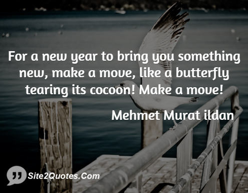 For a New Year to Bring You Something New - New Year Wishes - Mehmet Murat ildan