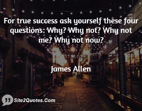 Success Quotes - James Allen