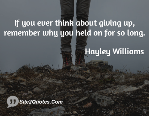 Inspirational Quotes - Hayley Williams