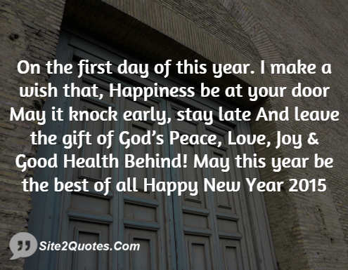 On the First Day of This Year -New Year Wishes - Site2Quote