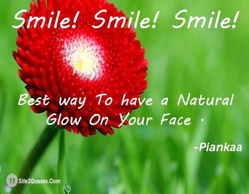 Smile Quotes - Piankaa
