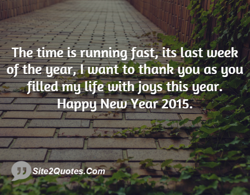 The Time Is Running Fast Its Last Week Of The Year - New Year Wishes - Site2Quote