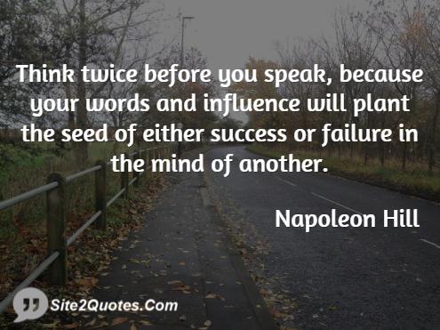Success Quotes - Napoleon Hill