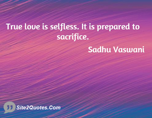 Love Quotes - Sadhu T. L. Vaswani