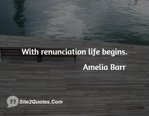 Life Quotes - Amelia Barr