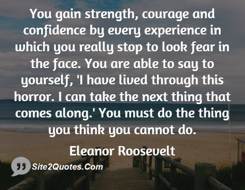 Inspirational Quotes - Eleanor Roosevelt