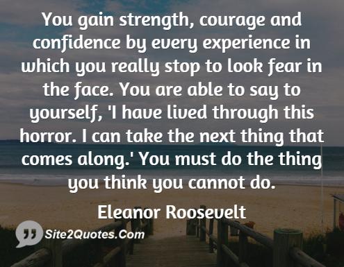 Inspirational Quotes - Eleanor Roosevelt