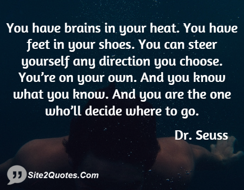 Inspirational Quotes - Dr. Seuss