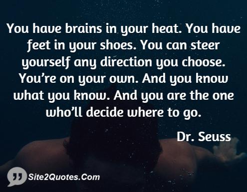 Inspirational Quotes - Dr. Seuss